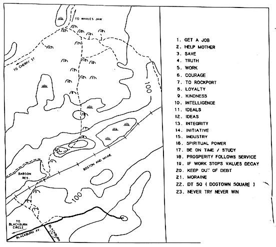 Map of the inscriptions