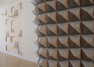 Showing Groviglio/Tangle (foreground) by Emily Speed  and 'Look See' by Ben Cove (background)